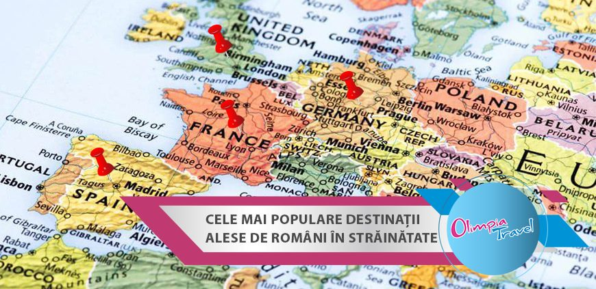 Cele mai populare destinatii alese de romani in strainatate