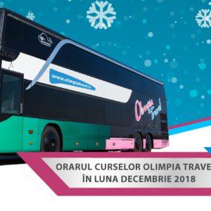 Orarul curselor Olimpia Travel in luna decembrie